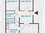 3 izb. byt, BOHROVA ul., 70 m2, loggia