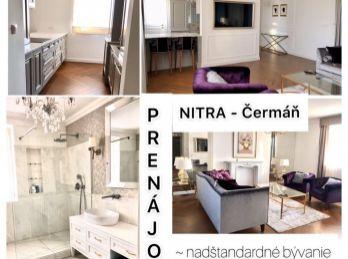Ponúkame na prenájom štýlový veľkometrážny 3.izb byt v Nitre v novostavbe s garážovým státím