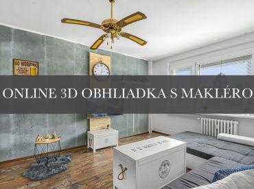 Zariadený 1,5 izbový byt, Estónska ulica, 36 m2