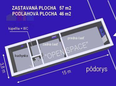 Na predaj nebytový priestor 48 m2 vhodný na bývanie, Piešťany