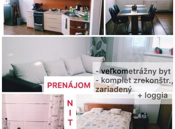 Prenájom pekne zrekonštruovaného a zariadeného 2.izb bytu v Nitre na Klokočine SUPER CENA