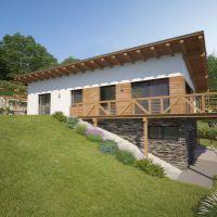 Rodinný dom, Horná Mičiná, 166 m², Projekt