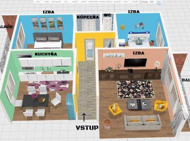 Vip Video.Byt 3+1 77 m2, dva balkóny, tehla, pôvodný stav - Banská Bystrica