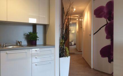 Ponúkame na prenájom zariadený 2-izbový byt v novostavbe MODRÁ GUĽA na Suchom mýte v mestskej časti Bratislava-Staré mesto.