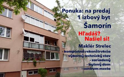 Predaj zrekonštruovaný 1 izbový byt v Šamoríne.