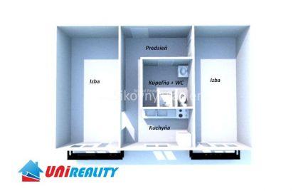 RYBANY - 2 izbový byt / Garáž / kompletná rekonštrukcia