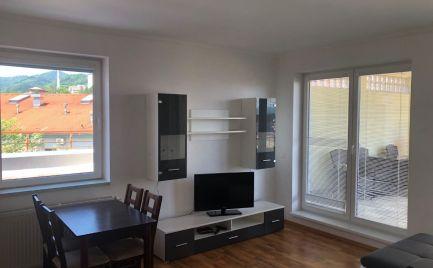 EXKLUZÍVNE  -  na prenájom 3 izbový byt na BELVEDERI s dvomi terasami a  parkovacím miestom