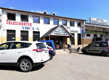Prenájom komerčného objektu na Budovateľskej ulici v Prešove - predajňa, sklad, administratívne priestory, parkovisko.