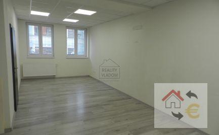 Na prenájom kancelárske priestory o výmere 62 m2, Prešov.
