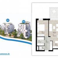 2 izbový byt, Kysucké Nové Mesto, 56.74 m², Novostavba