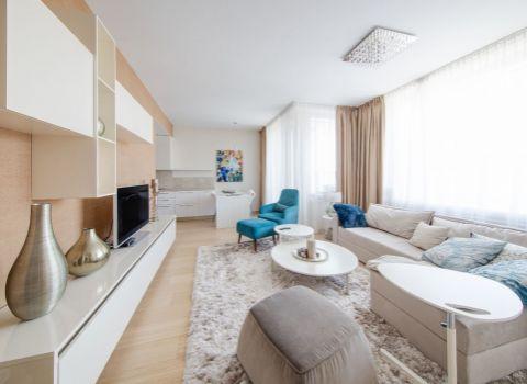 Na prenájom nadštandardný a luxusný 2 izbový byt v Panorama City s výhľadom na Staré Mesto