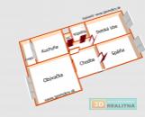 PREDANÉ 3-izbový ZREKONŠTRUOVANÝ byt 72m2 - sídl. Necpaly - Prievidza