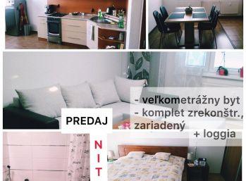 Predaj kompletne zrekoštruovaného 2 izb bytu v Nitre na Klokočine prerobeného z 3.izb so zariadením