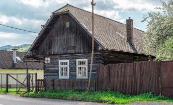 PREDAJ: Zdravá drevenica na rekonštrukciu, 83 m2, Závadka nad Hronom, okres Brezno