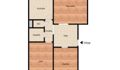 REZERVOVANÉ – Slnečný 3 izbový byt s loggiou v top zelenej lokalite – Gercenova ul. – BA V Petržalka. TOP PONUKA.EXKLUZÍVNE!