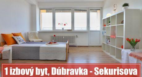 1 izbový byt na predaj v Dúbravke je ideálnym bývaním pre mladšieho i staršieho