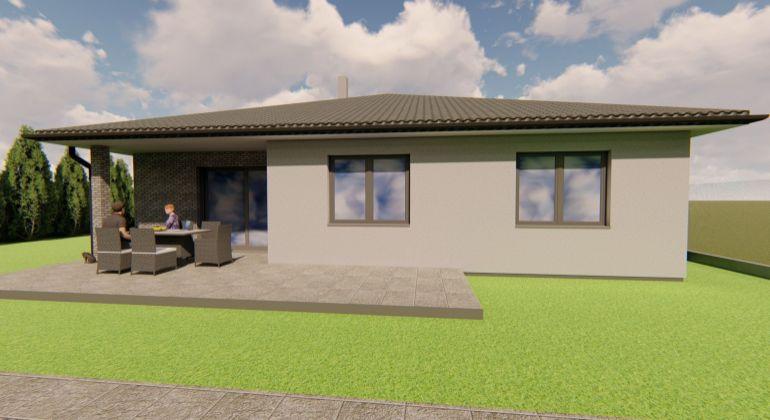 Nízkoenergetický bungalov-novostavba- Trenčianske Jastrabie