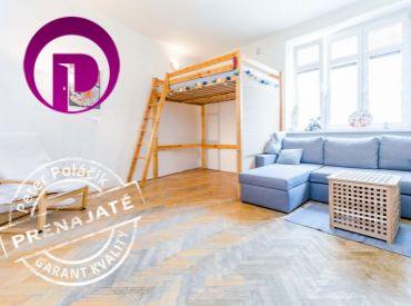 PRENAJATÉ - 1i byt, 40m2 – Ružinov-Nivy: AUTOBUSKA 10min PEŠI, posedenie na PAVLAČI, ZELENÝ vnútroblok, PRÍJEMNÍ susedia