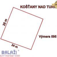 Pre bytovú výstavbu, Košťany nad Turcom, 595 m²