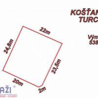 Pre bytovú výstavbu, Košťany nad Turcom, 538 m²