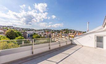 REZERVOVANÉ: 5-izbový byt s terasou v novostavbe - Podjavorinskej ulica - Bratislava, výťah, parking v suteréne (3D prehliadka)