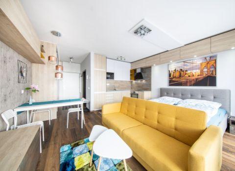 PRENAJATÝ - na prenájom úplne nový 1 izbový dizajnový byt S 3D PREHLIADKOU na Tehelnom poli
