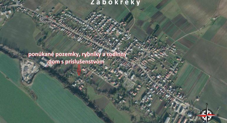 Lukratívny pozemok s rybníkom v obci Žabokreky okres Martin