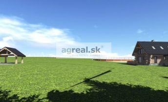 Ucelený pozemok 2 ha na ranč, zrubové chaty a rekreáciu pod Tatrami, Liptovský Peter