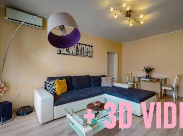 ViP 3D video. Byt 2+1 s balkónom 60m2, prerobený a klimatizovaný, Banská Bystrica - Fončorda.