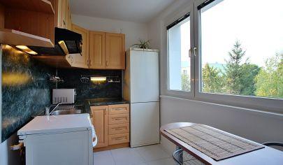Na predaj zariadený 1 izbový byt blízko centra s krásnym výhľadom na zeleň a potok.