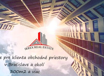 Exkluzívne pre nášho klienta hľadáme obchodné priestory v  Bratislavskom kraji.