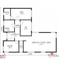 Rodinný dom, Hosťová, 89.93 m², Novostavba