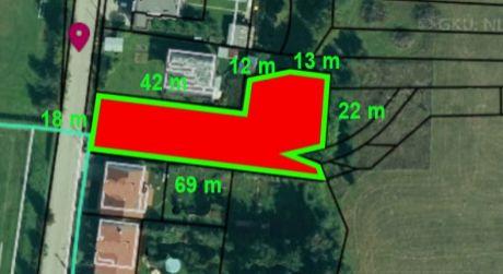 Na predaj pozemok 1095 m2, Žilina - Rosina