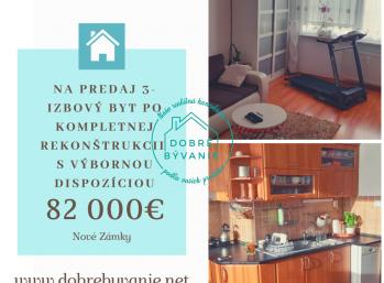 Na predaj 3izbový byt po kompletnej rekonštrukcii v Nových Zámkoch