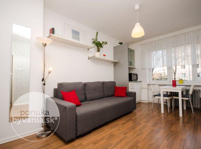 PRENAJATÉ - SIBÍRSKA, 1-i byt, 21 m2 – TEHLA, zariadený, VOĽNÝ, kompletná rekonštrukcia, PROVÍZIU NEPLATÍTE