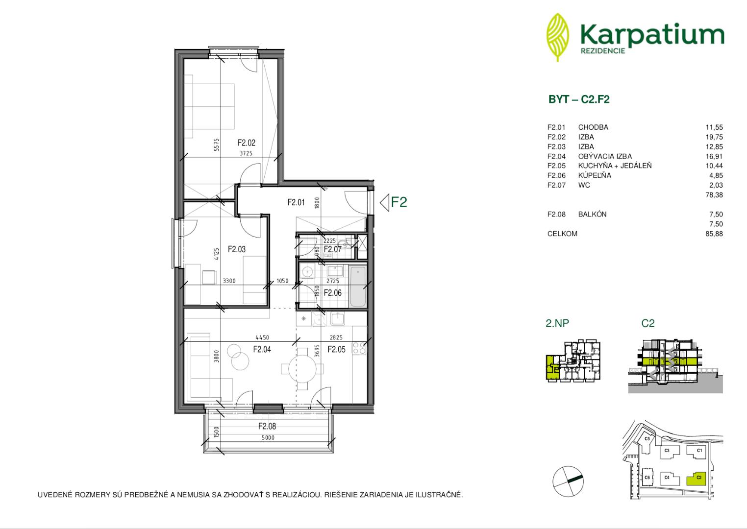 ponukabyvania.sk_Na Krčoch_3-izbový-byt_Karpatium