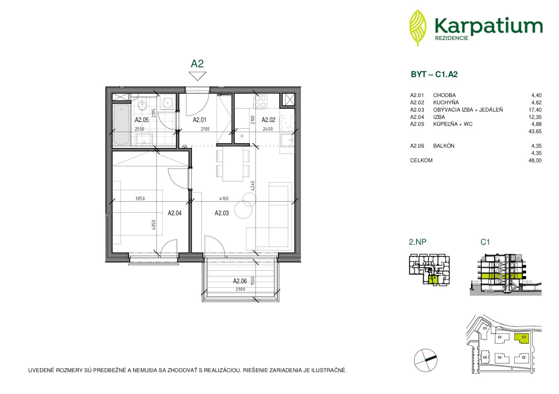 ponukabyvania.sk_Na Krčoch_2-izbový-byt_Karpatium
