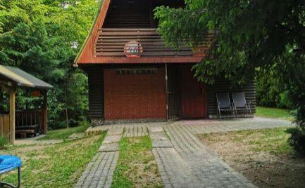 PRÍJEMNÁ CHATA na DUCHONKE  – 4  - izbová zariadená chata s ALTÁNKOM  blízko vody