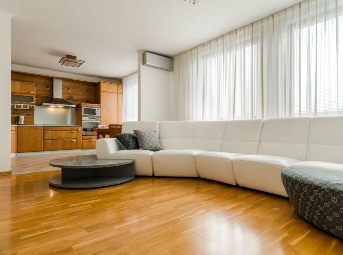 VAJNORSKÁ, 3-i mezonet, 124 m2 - TERASA S VÝHĽADOM NA MESTO, balkón, vedľa VIVO!, PRÉMIOVÁ SANITA