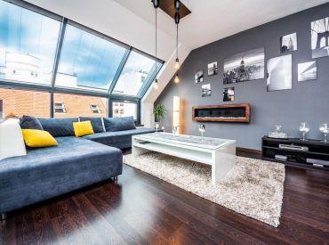 REZERVOVANÉ - 3i BYT– BA I: 96m2 veľkometrážny, luxusný strešný byt s nadštandardným vybavením a veľkým balkónom.