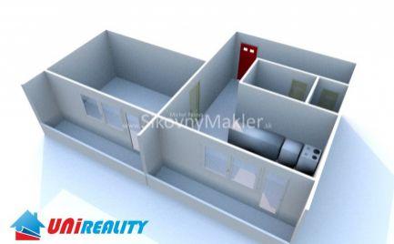 BÁNOVCE NAD BEBRAVOU- 1 izbový byt / DUBNIČKA / 2 x Balkón