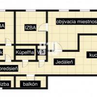 3 izbový byt, Bratislava-Ružinov, 85.57 m², Čiastočná rekonštrukcia