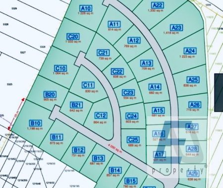 Stavebné pozemky Stará Lesná od 1000 m2 v cene od 85 eur/m2