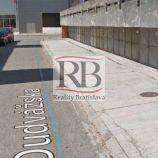 Na predaj 2-garáž v radových garážach na Dudvážskej ulici v Podunajských Biskupiciach, 25m2