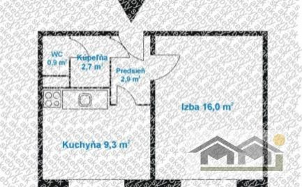Čiastočne prerobený 1 izb byt na Chrenovej1 pri rieke