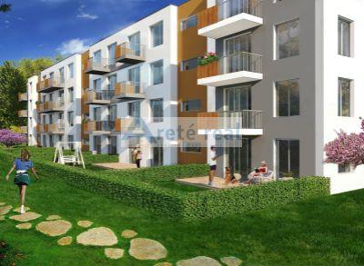Areté real, Predaj novostavby 2- izbového bytu so záhradkou v tesnej blízkosti centra mesta Pezinok - NOVÁ ETAPA