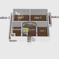 3 izbový byt, Trenčín, 75 m², Pôvodný stav
