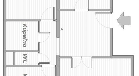 3- izbový byt na Švabinského ulici