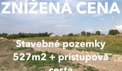 ZNÍŽENÁ CENA: Pozemky pre rodinné domy - Masníkovo (iba 30km do Bratislavy)