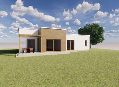 Ponúkame na predaj NOVOSTAVBU : Rodinné domy IVB Nové Rišňovce časť SALAŠE . 4 izbový Bungalov